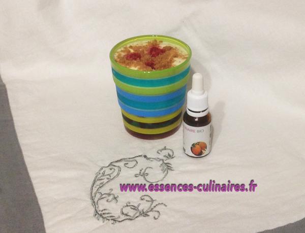 Mousse de tiramisu aux framboises et à l'huile essentielle de citron