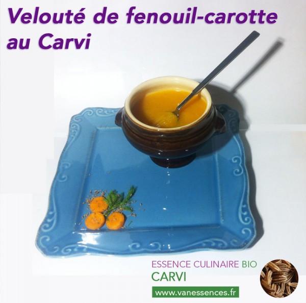 Velouté de fenouil-carotte à l'Essence culinaire Bio de Carvi
