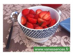 Salade de Fraises saveur Limoncello et Basilic